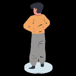 Guy backwards character isometric
