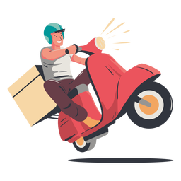 Happy delivery boy character