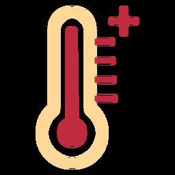 Icono de termómetro alto
