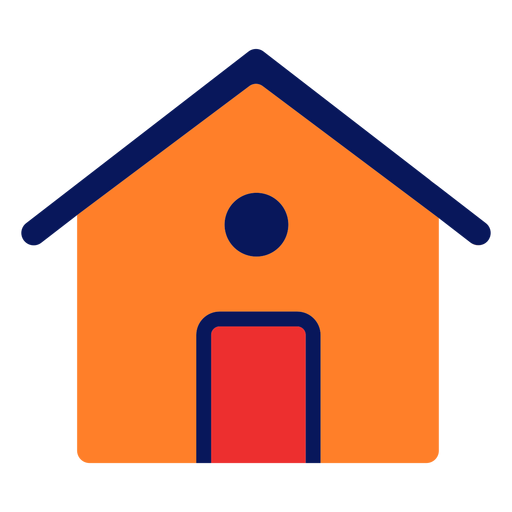 Icono de la casa plana Transparent PNG