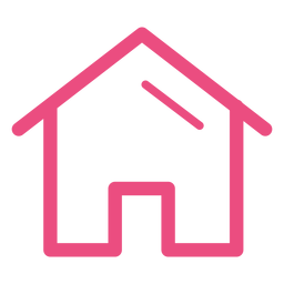 Trazo de icono de casa