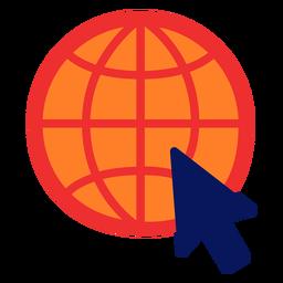 Symbol zum Surfen im Internet