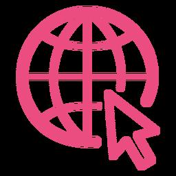 Icono de navegación por Internet trazo rosa