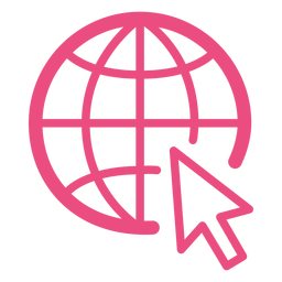 Internet-Browsing-Symbol Strich rosa