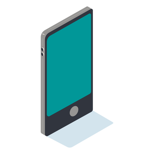 Isometric cellphone Transparent PNG