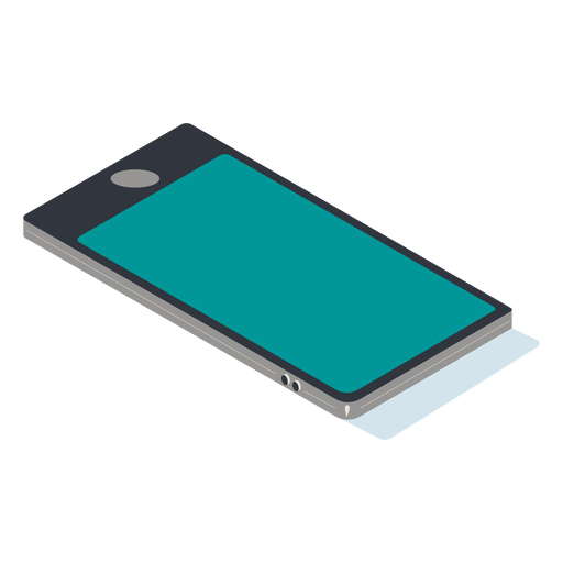 Isometric mobile phone Transparent PNG