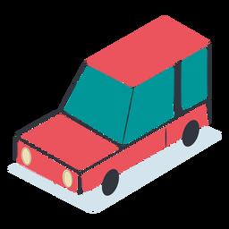 Carro vermelho isométrico