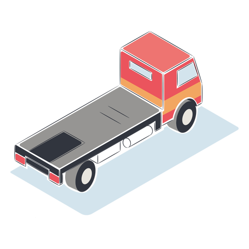 Camion isometrico sin carga Transparent PNG