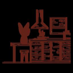Dibujado a mano de cocina