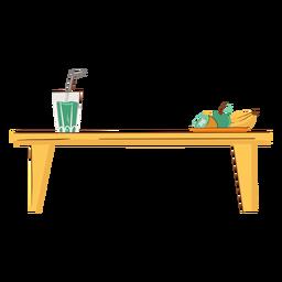 Mesa de cocina plana
