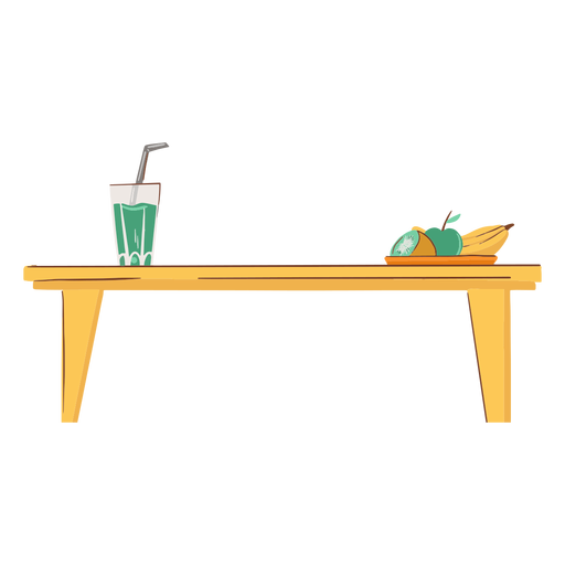 Kitchen table flat Transparent PNG