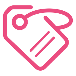Etiqueta etiqueta icono trazo rosa