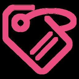 Label tag icon stroke pink