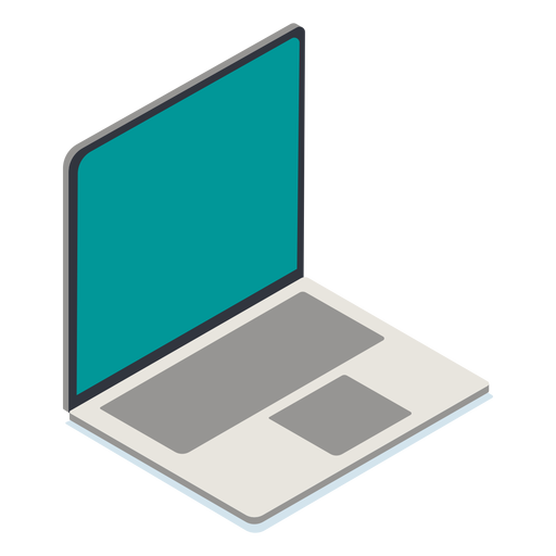 Laptop isometric Transparent PNG