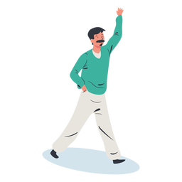 Man greeting character isometric