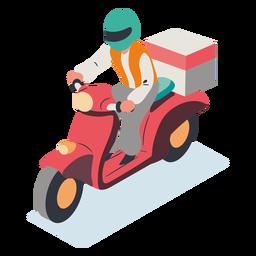 Hombre equitación scooter