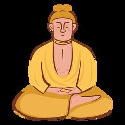 Meditating man character