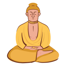 Personaje de hombre meditando