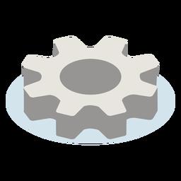 Engranaje de metal isométrico
