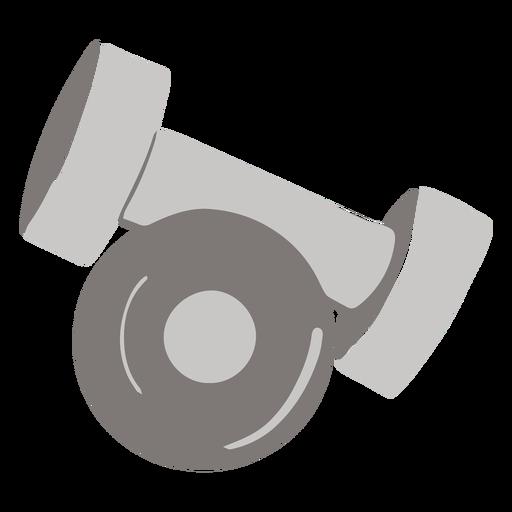 Metal weights flat Transparent PNG