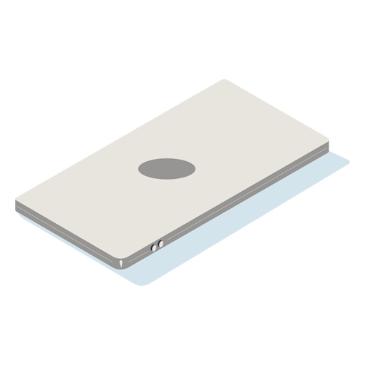 Mobile phone facing down isometric Transparent PNG