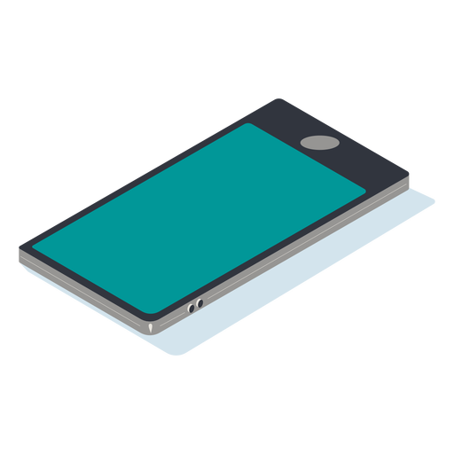 Mobile phone isometric Transparent PNG
