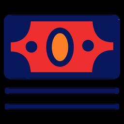 Icono de factura de dinero