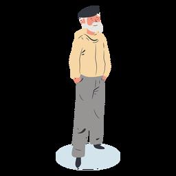 Charakter des alten Mannes isometrisch