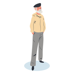Old man character isometric
