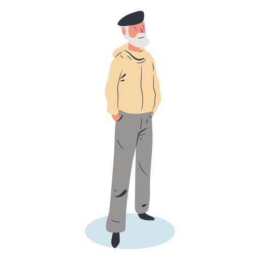 Old man character isometric Transparent PNG