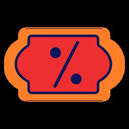 Icono de descuento en línea