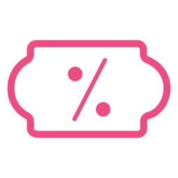 Online discount icon stroke pink