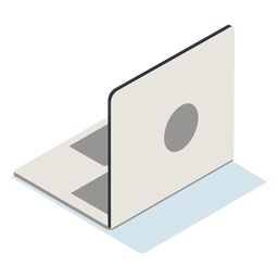 Laptop aberto isométrico