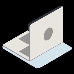 Portátil abierto isométrico