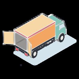 Camión abierto isométrico