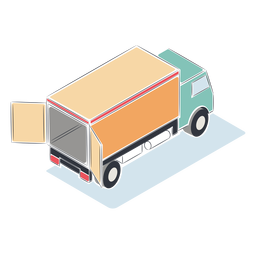 Open truck isometric