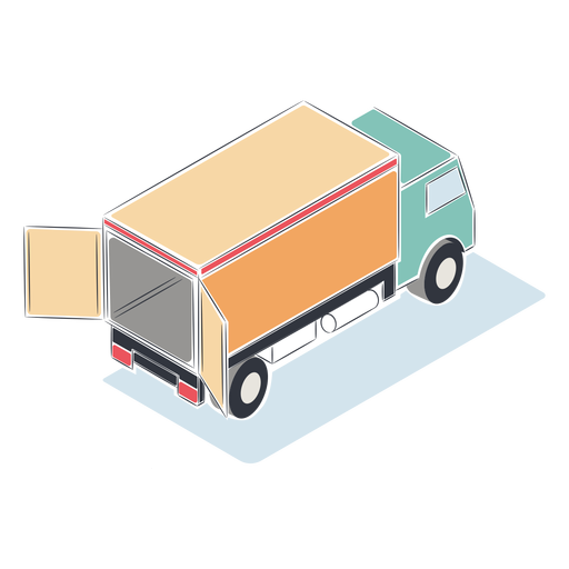 Open truck isometric Transparent PNG