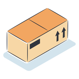 Package box isometric