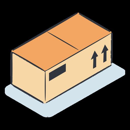 Caja de paquete isométrica