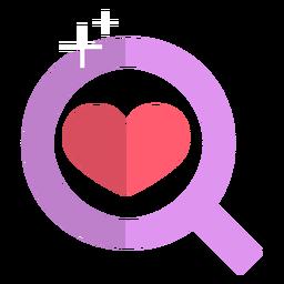 Icono de lupa rosa