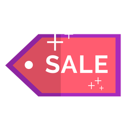 Pink sale icon