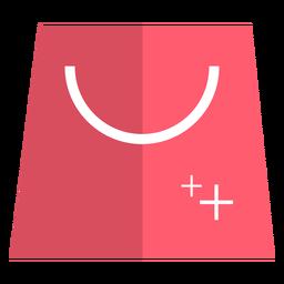 Icono de bolsa de compras rosa