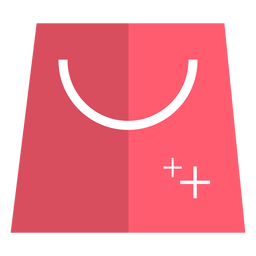Pink shopping bag icon