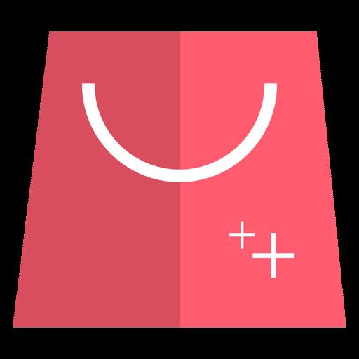 Ícone de sacola de compras rosa Transparent PNG