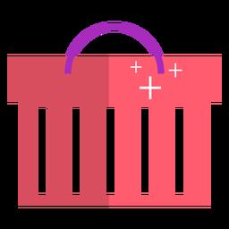 Ícone de cesta de compras rosa