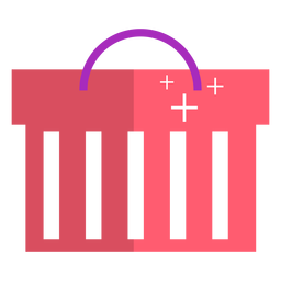 Pink shopping basket icon