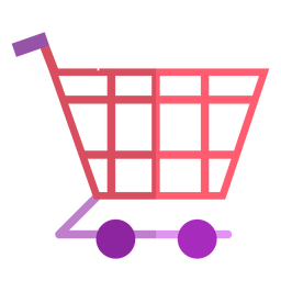 Icono de carrito de compras rosa