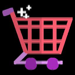 Icono de carro de compras rosa
