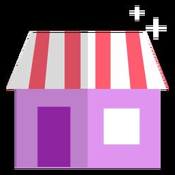 Icono de tienda rosa