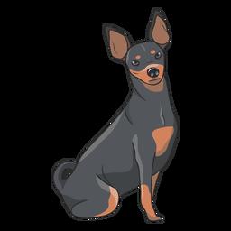 Ilustração de cachorro Pinscher